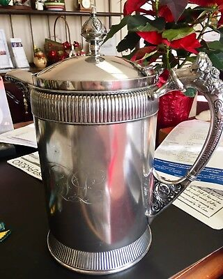 Antique Ornate Meriden Silver Plate Co. Insulated Pitcher