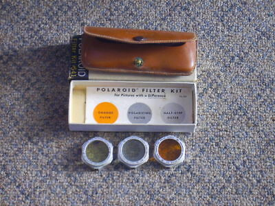 Vintage Polaroid Filter Kit 541 W/3 Filters, Case, Original Box & Instructions