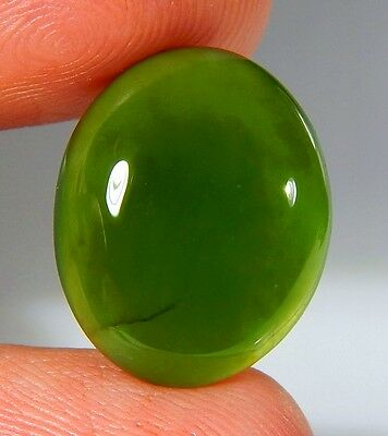 11 Ct Natural Ring Size Deep Green Serpentine  Jade Oval Cabochon  Gemstone A135