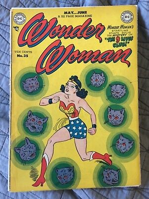 Rare 1949 Golden Age Wonder Woman #35 Classic Cover Complete