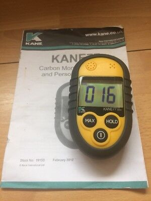 * Kane 77-UK Carbon Monoxide Meter with Audio, Visual and Vibrating Alarms /