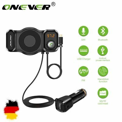 ONEVER 2in1 Car Kit MP3 Player FM Transmitter Rotatable Bluetooth Telefon Halter