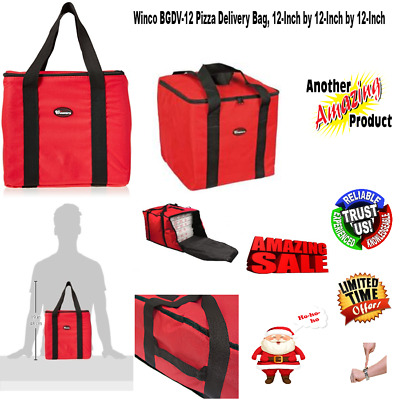 12X12 Insulated Delivery Travel Beach Bag Hot Food Warm Carry Transport Pizza