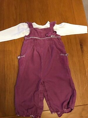 Baby Girl Dungarees Monsoon 6-12 Months