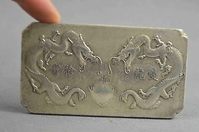 Collectable Handwork Old Miao Silver Carve Dragon Play Bead Exorcism Pendant