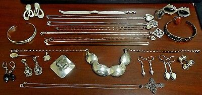 Mixed Lot of Sterling Silver Jewelry.  NOT SCRAP!