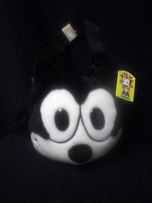 Felix the Cat Black New Plush Shoulder Bag