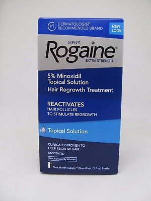 Rogaine Men's Hair Regrowth Treatment 5% Minoxidil Topical Solution One Month Su