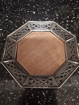 Hall Marked Silver Wine Bottle Coaster