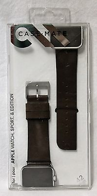 Case-Mate Apple Watch Brown Genuine Leather Band 42mm - CM032795