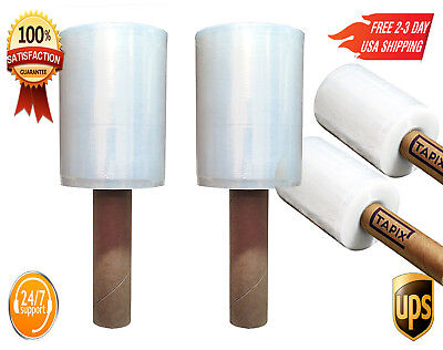 2 PACK Hand Stretch Film Roll Easy To Wrap Shrink Plastic Pallet 1+1 Top Quality