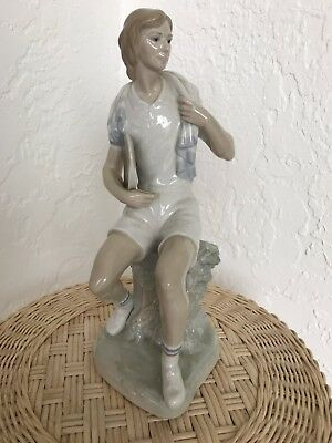 "Lladro 4798 TENNIS ""TENIS PLAYER"" Girl Lady Racket - Glazed Finish"