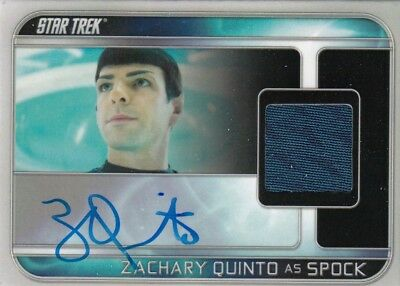 Star Trek Beyond Movie - Zachary Quinto (Spock) Autograph Relic Card Vl 93/255