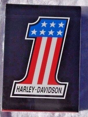 Genuine Harley Davidson Amf Style #1 Logo Deck Of Playing Cards Poker Quality