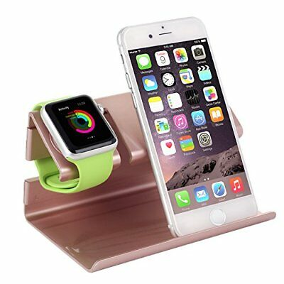 Apple Watch iPhone iWatch Charging Charger Stand Dock Station Holder Rose Gold