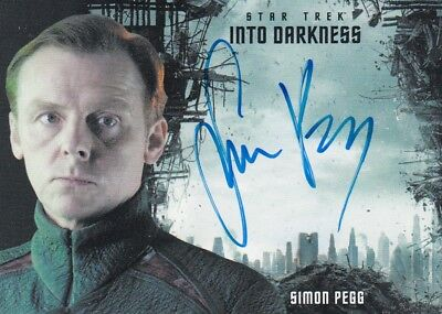 Star Trek Beyond Movie - Simon Pegg (Scotty) Autograph Into Darkness Design S