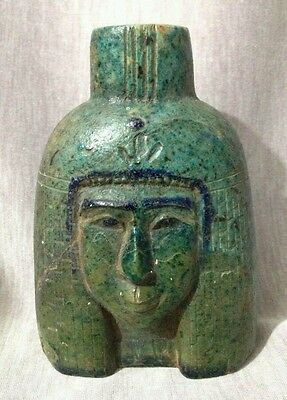 Antique Ancient Egyptian bust of queen meritamun