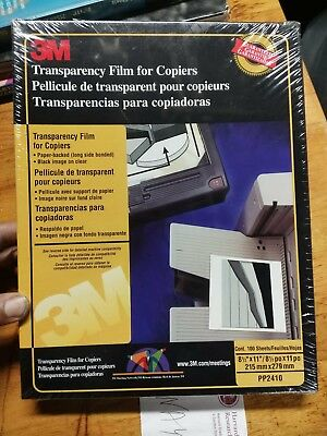 3M Transparency Film For Copiers PP2410 NEW SEALED