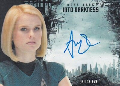 Star Trek Beyond Movie Alice Eve (Carol Marcus) Autograph Into Darkness Design L