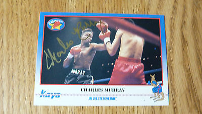 *reduced*  Signed Boxer Charles Murray 1991 Kayo Sports Card Protective Case Pin