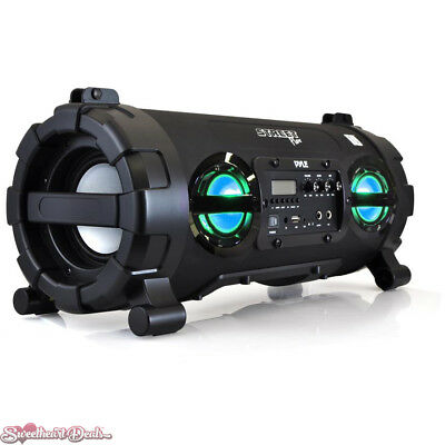 Pyle Pro PBMSPG130BK Speaker System 100W Portable Lights Rechargeable Boombox