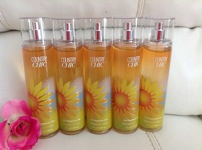 5 Bath & Body Works Country Chic  body mist spray 8 Oz Full Size