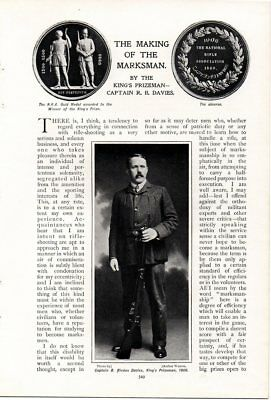 Making of the Marksman 1906 Article RIFLE SHOOTING Sport with Photos Capt Davies