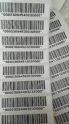100 brand new Genuine ADP white barcode stickers for all timeclock badges