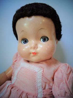 "1930s Effanbee Sweetie Pie Tousle Tot Baby Bright Eyes 24"" Doll Fur Caracul Wig"