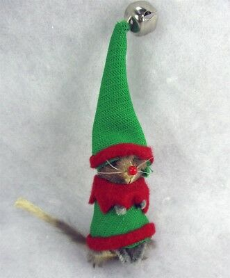 Original Real Fur Toy CHRISTMAS ELF Mouse Mice W Germany