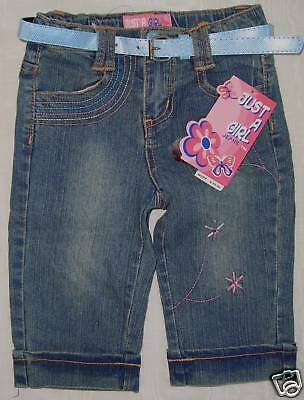 JUST A GIRL JEANS Belted Shorts Kids Childrens GIRLS Size 4 NWT $40