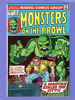 Monsters on the Prowl #21  --  White Mountain Pedigree Copy   -- --  VF  cond.