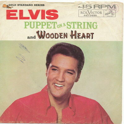 """Elvis Presley US Picture Sleeve for RCA 447-0650 """"Wooden Heart / Puppet On A .."""""""