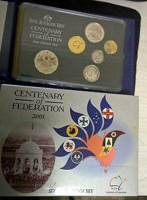 2001 Proof Set - Royal Australia Mint - In Box With Certificate