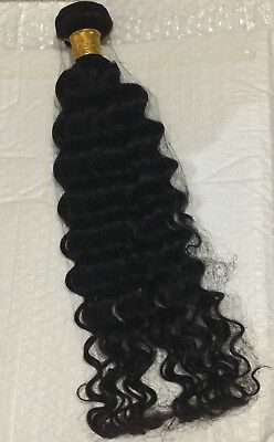 "Afro Kinky Curly Human Hair Extensions 20"" Natural Black/Brown 100g Clip In"