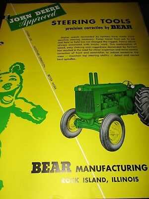 3 tools to work on John Deere Tractors and equipment sales brochures 1951
