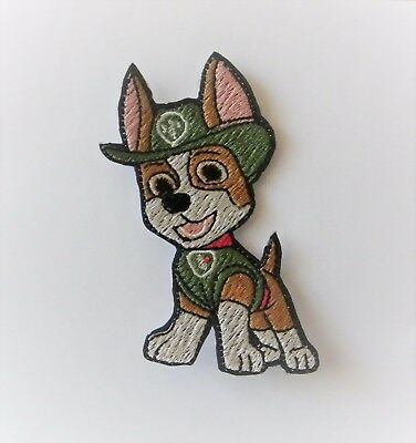 Paw Patrol ( Tracker ) Iron On Embroidered Patch/badge