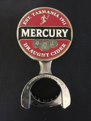 RARE Mercury Draught Cider Cascade Beer Tap Badge, Decal, Top HARD TO FIND