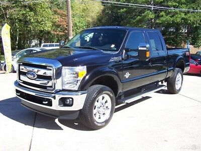 2012 Ford F-350 1-OWNER 6.7L POWERSTROKE TURBO DIESEL 4X4 CREW CAB SHORT BED A SHARP 1-TON ALL BLACK GA FX-4 LARIAT 4WD NICE VALUE HEATED & AC LEATHER SYNC