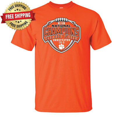 Clemson Tigers 2018 2019 National Champions Undefeated 15-0 T-Shirt