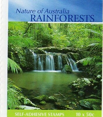 2003 AUSTRALIAN STAMP BOOKLET RAINFORESTS NATURE 10 x 50c STAMPS MUH