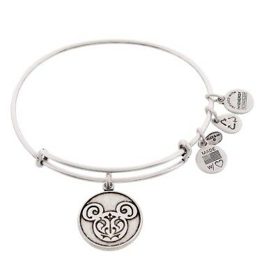 96a0c4f64 AUTHENTIC Disney Parks Alex and Ani Mickey Mouse Filigree Bangle Bracelet  SILVER