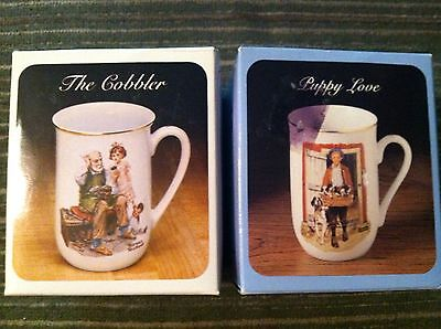 Mug Set of 2 Norman Rockwell Museum Lighthouse Keeper's Daughter, Puppy Love