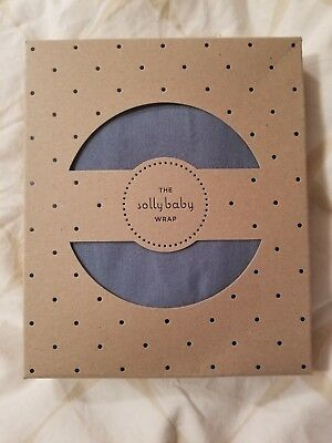 BRAND NEW Solly baby wrap, IN BOX RARE BALTIC BLUE