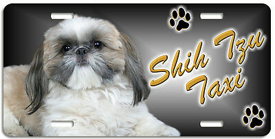 Shih Tzu 9 Taxi Line License Plate (( LOW CLEARANCE PRICE ))