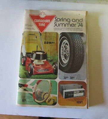 1974 Canadian Tire Catalogue Spring And Summer