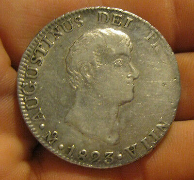 Mexico - 1823 Large Silver 8 Reales - Iturbide