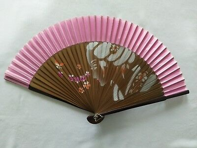 New Chinese Hand Held Fan Bamboo Silk Lady Flower Folding Fan Wedding Decor