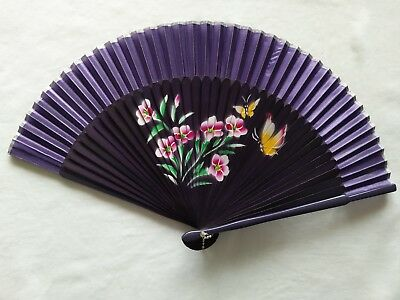 New Chinese Lady Hand Held Fan Bamboo Silk Flower Folding Fan Wedding Decor