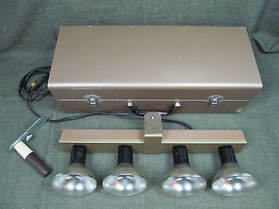 Movie Camera light bar L.E.S.M. 240 EXCEL 4 LITE BAR w/bulbs & metal case works